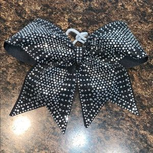Accessories - Black Bow with Silver Bling